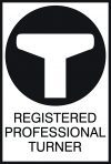 Registered professional turner logo