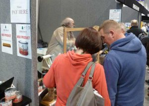 Steve demonstrating at the North of England Woodworking Show in Harrogate