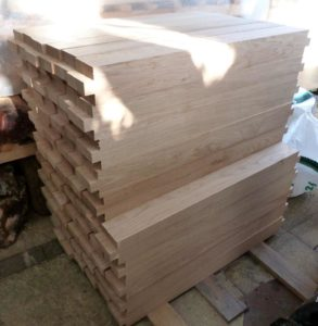Oak arrived for spindles - 900mm x 90mm square